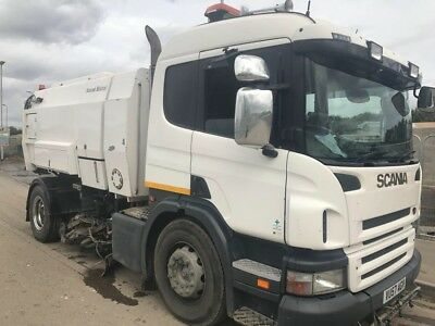 2007'57' Scania Sleeper cab Road Sweeper Scarab Mistral-Registered as specialist