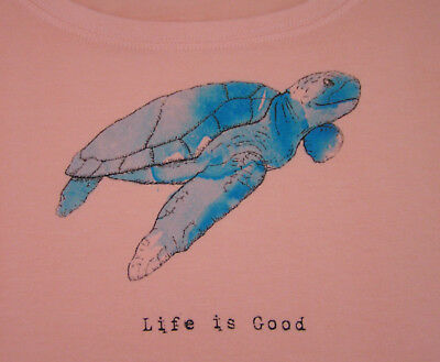 cbf9de4d Life is Good *Sea Turtle* Women's Crusher Scoop-Neck Tee Small or Medium