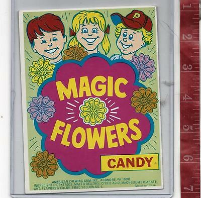 Vintage display Magic Flowers candy machine card FREE SHIPPING