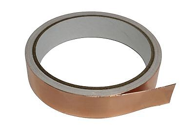 "Copper Foil Shielding Tape w/ Conductive Adhesive Guitar Bass 3/4"" x 18' roll"