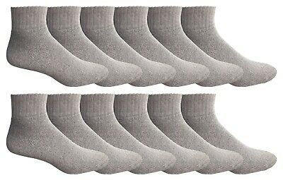 Yacht & Smith 12 Pairs Of Men Socks Ankle, Sport Athletic Low Cut No Show (Gray)
