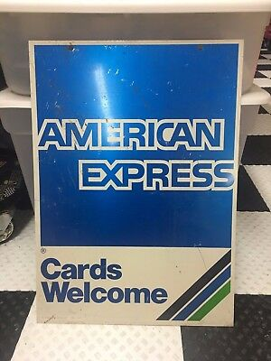 Vintage 1989 American Express Double Sided Sign ..