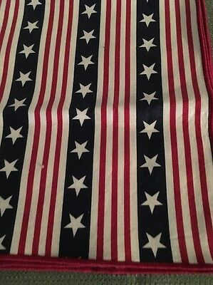 Longaberger Set of 2 Fabric Napkins- All American Stars & Stripes