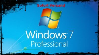 Microsoft Windows 7 Pro Professional Key Vollversion 32/64 Bit Sofort Versaand
