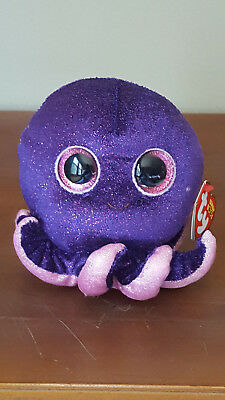INKY the Purple Octopus Exclusive 6 Inch Ty Beanie Boos NEW MWMT