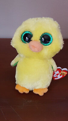 ty BEANIE BABY BOO NUGGET WALGREEN'S EXCL YELLOW CHICK MWMT 2017 RED HEART TAG