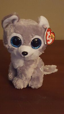 ty BEANIE BABY BOO WARRIOR WOLF GREAT WOLF LODGE EXCL MWMT 2016 SPARKLE EYES