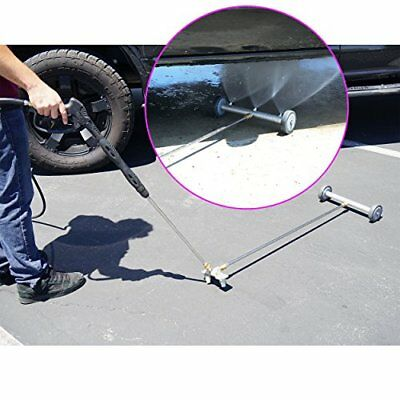 Broutech Undercarriage/Drive way Washing Broom Cleaner w/ 36 inch Extention Wand