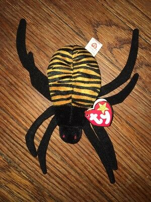 Ty Beanie Baby Spinner - MWMT (Spider 1996) The Beanie Babies Collection NEW AT