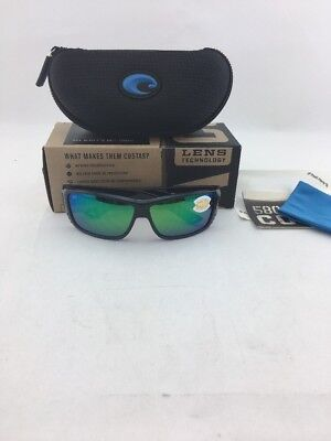 afe6a2bc5bf Costa Del Mar Polarized Sunglasses Cat Cay At11 Ogmp Black Frame green 580P  Lens