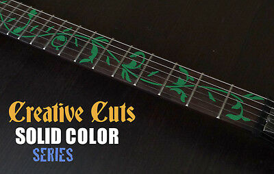 Tree of Life Green Fretboard Markers Vinyl Inlay Sticker Decals for GUITAR Neck