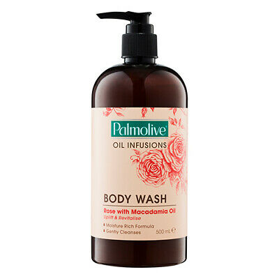 NEW Palmolive Oil Infusions Body Wash Rose with Macadamia Oil 500ml