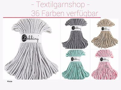 Bobbiny Rope Cords 100 Meter/5 mm Alternative Hoooked Textilgarn Zpagetti Hooked