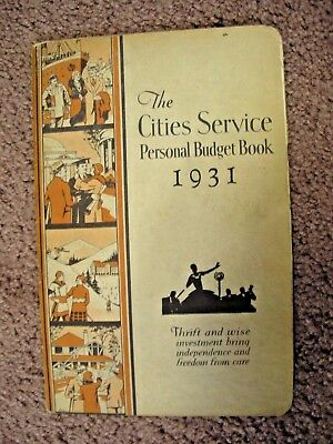 1931 The Cities Service personal budget book Unused with no writing in it