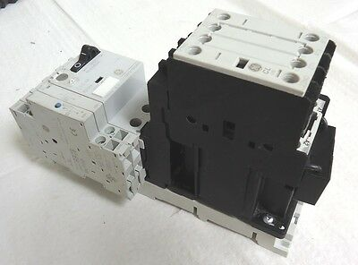 General Electric GPS1BSAH Manual Motor Starter w/ GE CL00D310T Contactor & Acces