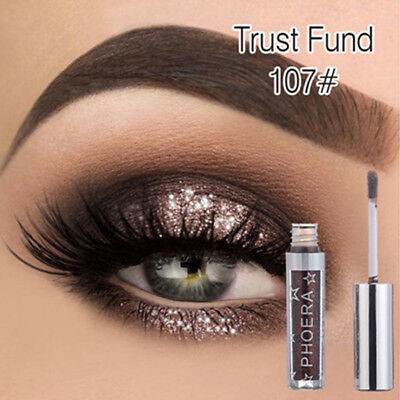 12colors Eyeshadow Liquid Waterproof Glitter Eyeliner Shimmer Makeup Cosmetics W