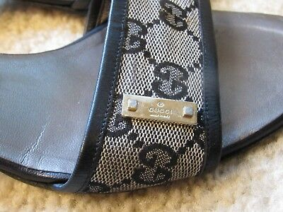 a5ee5da12 AUTHENTIC WOMEN'S MONOGRAM Gucci Sandals Size 8B Pre-owned - $149.97 ...