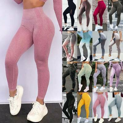 Women High Waist Yoga Leggings Pants Seamless Sports Fitness Workout Trousers G6