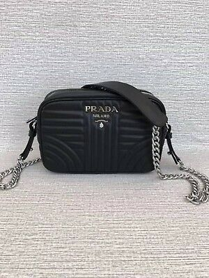 e9afcb82db PRADA DIAGRAMME LEATHER Crossbody Bag -  820.00