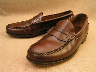 1091d368f Mens Dexter USA Handsewn Slip-On Burgundy Leather Penny Loafer Shoes Sz 9 D  EUC