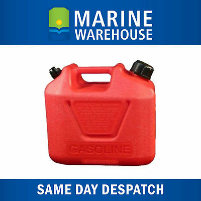 5L Jerry Can Petrol - Portable Fuel Container 5 Litre W/ Carry Handle  - 203005