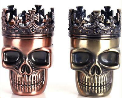 1PC Ghost Head Design 3 Piece Herb Spice Tobacco Grinder Crusher New