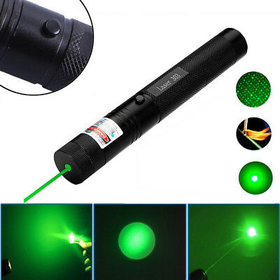 Powerful Military 532nm 303 Green Laser Pointer Pen Burning Beam  UK