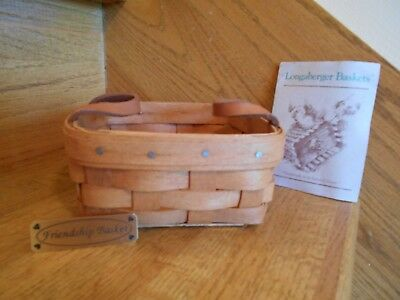 Longaberger Friendship Basket with tag 1990 nice gift rare *free shipping!*
