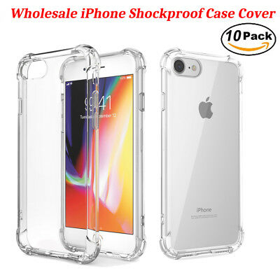 10x Wholesale Lot Screen Protector Case Cover for Apple iPhone X 8 6s 7 Plus