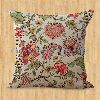 US SELLER- retro  floral cushion cover dining chair cushion cover