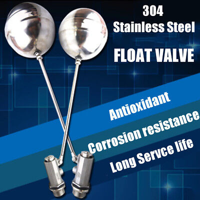 304 Stainless Steel 1'' Bsp Float Valve Automatic Water Trough Cattle Tank Bowl