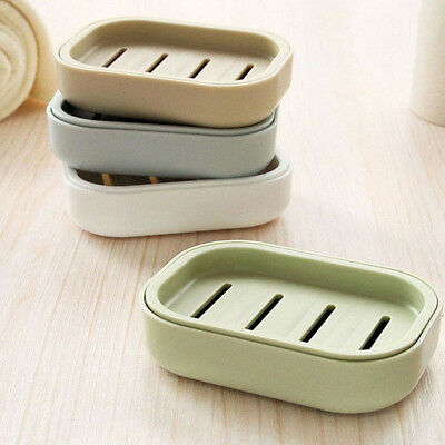 Soap Dish Box Case Holder Container Draining Home Bathroom Toilet Shower Travel