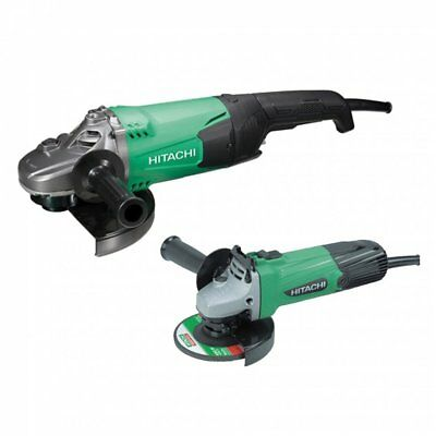 Hitachi G12STX / G23ST 110v 115mm and 230mm Angle Grinder Twin Pack