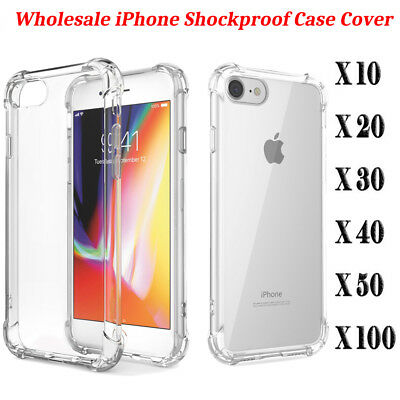 50x 100x Wholesale Lot Screen Protector Case Cover for iPhone X 8 6s 7 Plus 8+