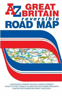 Great Britain Reversible Road Map A-Z Maps (folded sheet map, 2016)