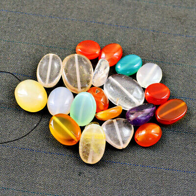 Exclusive 463.00 Carats Natural Untreated Multicolor Onyx Drilled Beads Lot