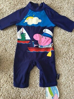 Mothercare Peppa Pig Boys sunsafe swimsuit 3-6 Months BNWT