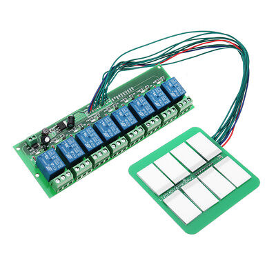 12V 8 Channels Capacitive Touch Switch Module With Relay And Self-locking Interl