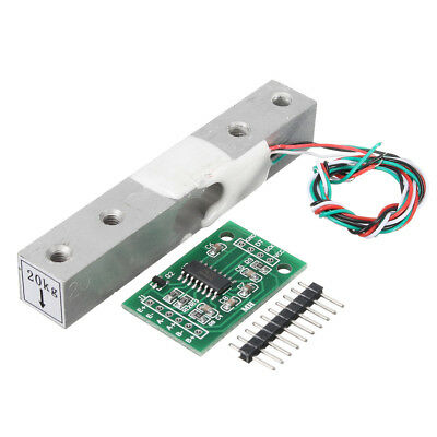 5pcs HX711 Module + 20kg Aluminum Alloy Scale Weighing Sensor Load Cell Kit For