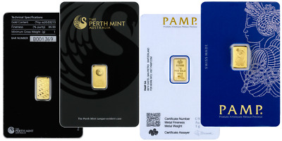 Perth Mint Or Pamp Suisse - 1 Gram Gold Bar .9999 Gold Bullion