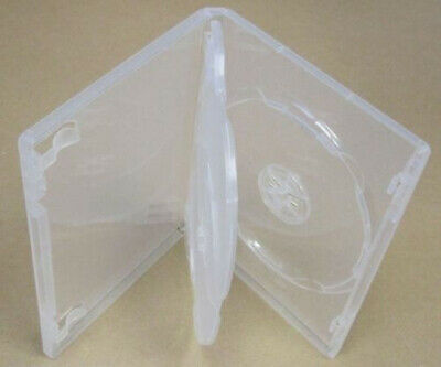 5 x Hold 3 14mm Standard Triple  DVD Cover Disc Case + outer wrap insert CLEAR