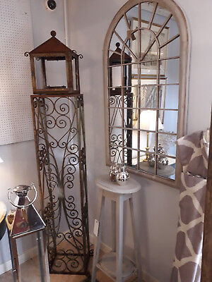 Wrought Iron, Garden Long Clock Case, Vintage, Architectural, Thought Provoking