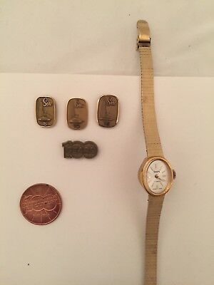Sears Vintage Service Employee Pins 5, 10, 15, Watch, Centennial Coin & Pin