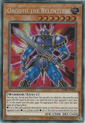 Yu-Gi-Oh: ORGOTH THE RELENTLESS - BLRR-EN001 - 1st Edition - Secret Rare Card