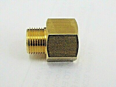 Metric Male Studs to Bsp Female Adaptors in Brass Male Fine Metric Studs