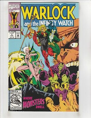 Warlock and the Infinity Watch #7 NM- 9.2 Marvel Infinity Gauntlet Aftermath