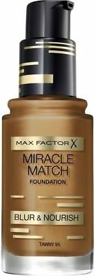 Max Factor Miracle Match Foundation BLUR & NOURISH 95 TAWNY