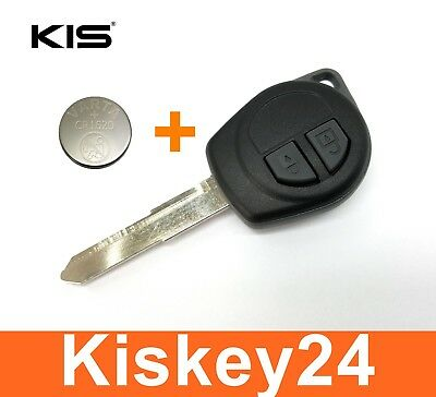 2T Spare Key Housing Blank with Rubber Buttons for Vauxhall Agila + Battery