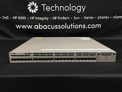 CISCO WS-C3850-24S-E WITH (1) PWR 350WAC supply SFP IP