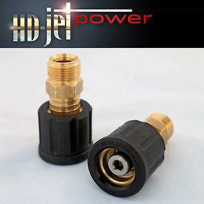 Swivel Coupling Brass Adapter M22 M Male x M22 F Female for Pressure Washer Hose
